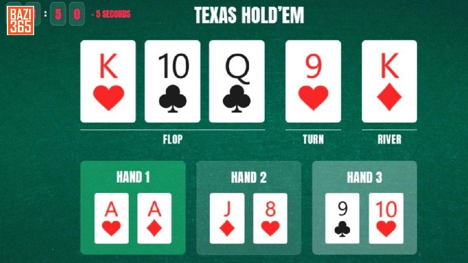 دستهای تگزاس هولدم